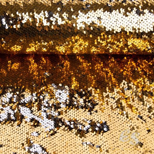 Gold-Silber Wende Paillette