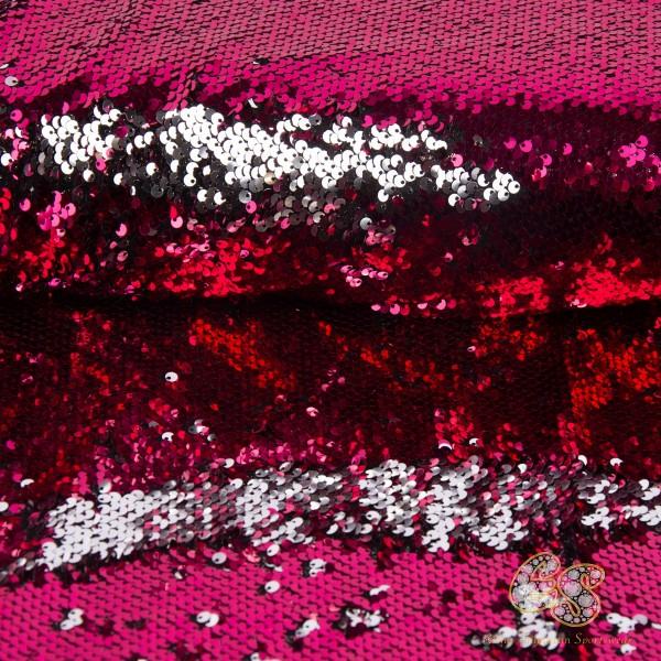 Pink-Silber Wende Paillette