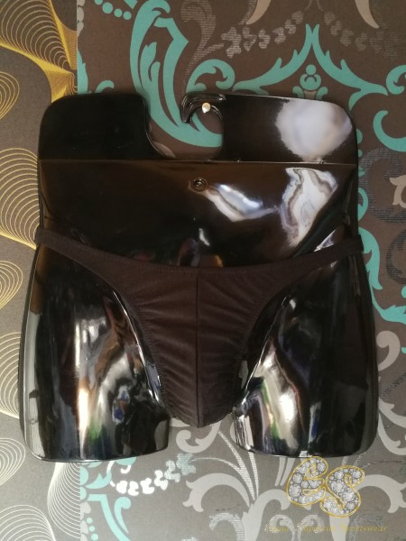 Posing-Slip Lycra® Schwarz matt Größe S